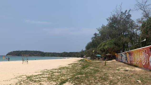 Phuket's Kata Beach sits empty as the island awaits the return of international travelers.