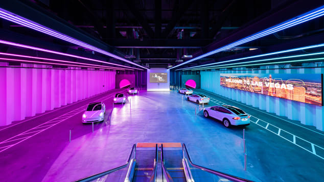 The Las Vegas Convention Center Loop is an underground shuttle featuring all-electric Teslas.