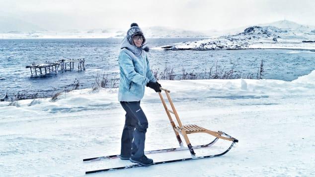 Valentina Miozzo đã chuyển từ Ý đến Vòng Bắc Cực của Na Uy trong thời gian bị khóa.