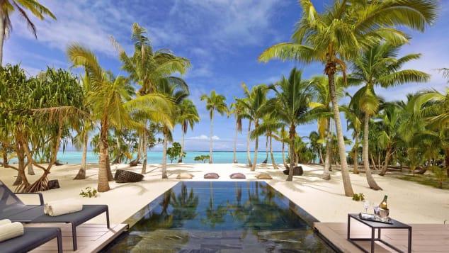 Brando, di sebuah pulau 30 mil sebelah utara Tahiti, adalah favorit para selebriti