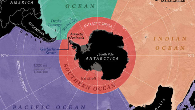 national geographic southern ocean map