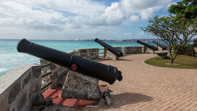Charles Fort was built in 1650 to protect Carlisle Bay on Barbados from pirates.