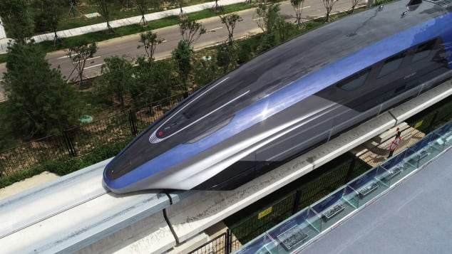 China's new maglev train is designed to reach speeds of 600 kilometers per hour.