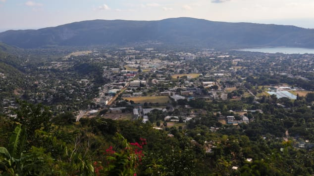 An aerial view of Kingston, Jamaica. The popular Caribbean island has been hit with a surge of Covid-19 cases recently.
