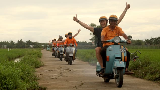 Vespa Adventures offers travelers a chance to explore Hoi An from the back of a classic Italian scooter.