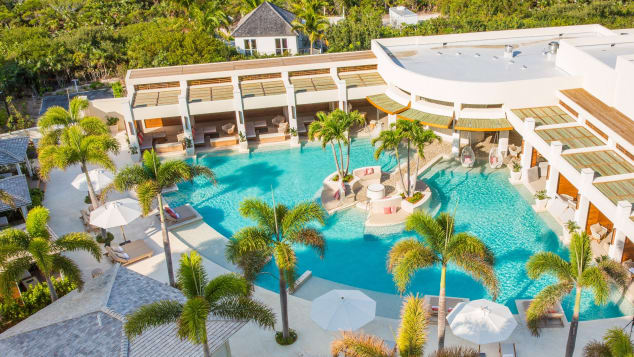 Best new hotels 2018 The Shore Club Turks & Caicos aerial