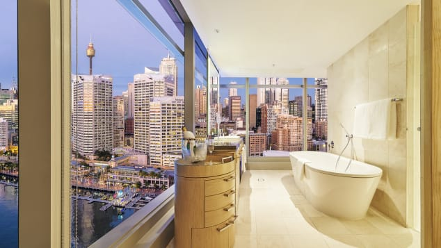 Best new hotels 2018 Sofitel Sydney Darling Harbour bathroom