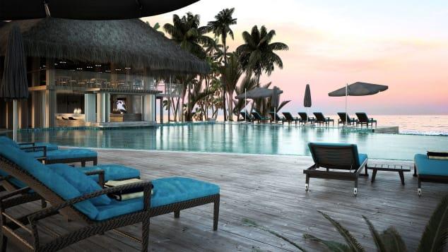 Best new hotels 2018 Baglioni Resort Maldives pool