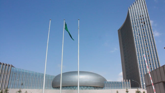 The Chinese-built African Union in Addis Ababa, Ethiopia, in August 2018.