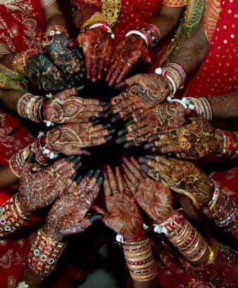 Indian brides henna