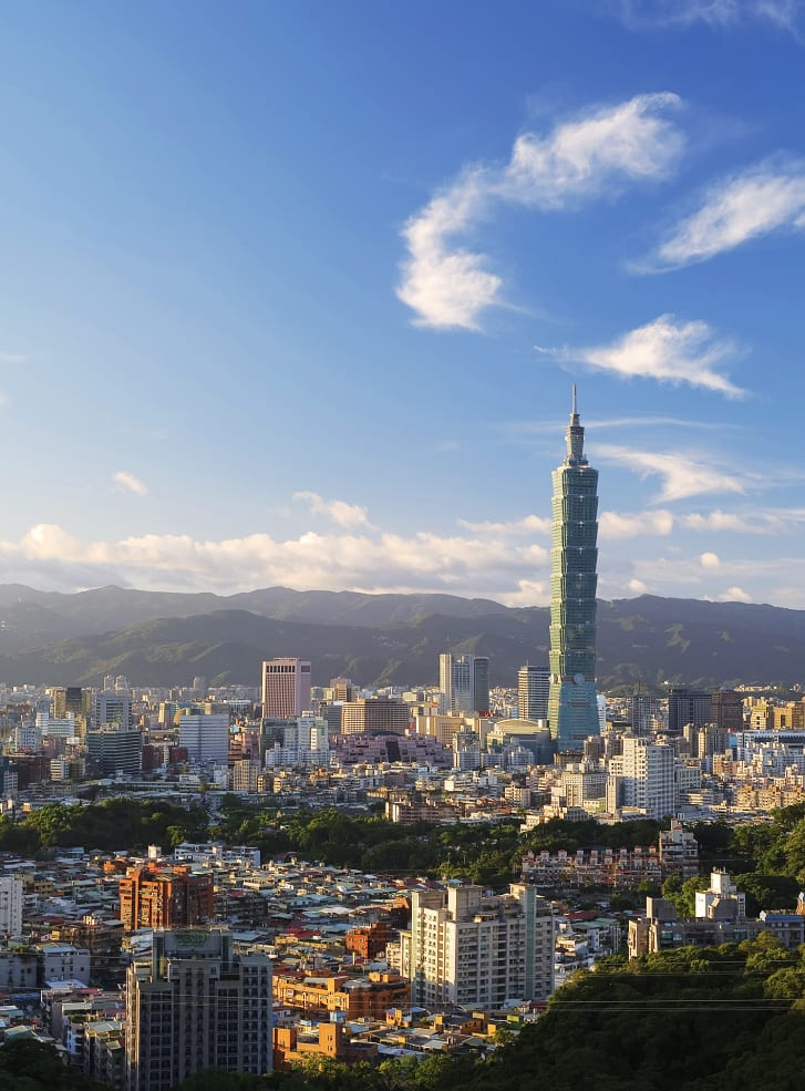 Towering over the capital city, Taipei 101 once held the title of world's tallest building.
