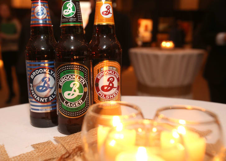 Glaser designed Brooklyn Brewery labels