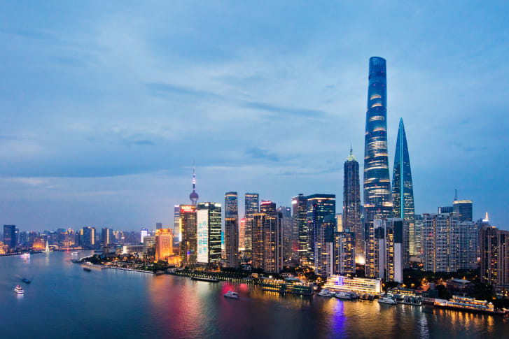 Shanghai Tower soars above an already impressive cityscape.