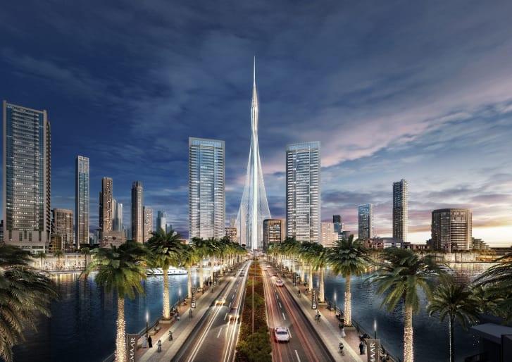 سيكون البرج هو قلب ميناء خور دبي ، أحد أكبر المشاريع السياحية وأسلوب الحياة في العالم ويمتد على مساحة 2.3 ميل مربع (6 كيلومتر مربع).