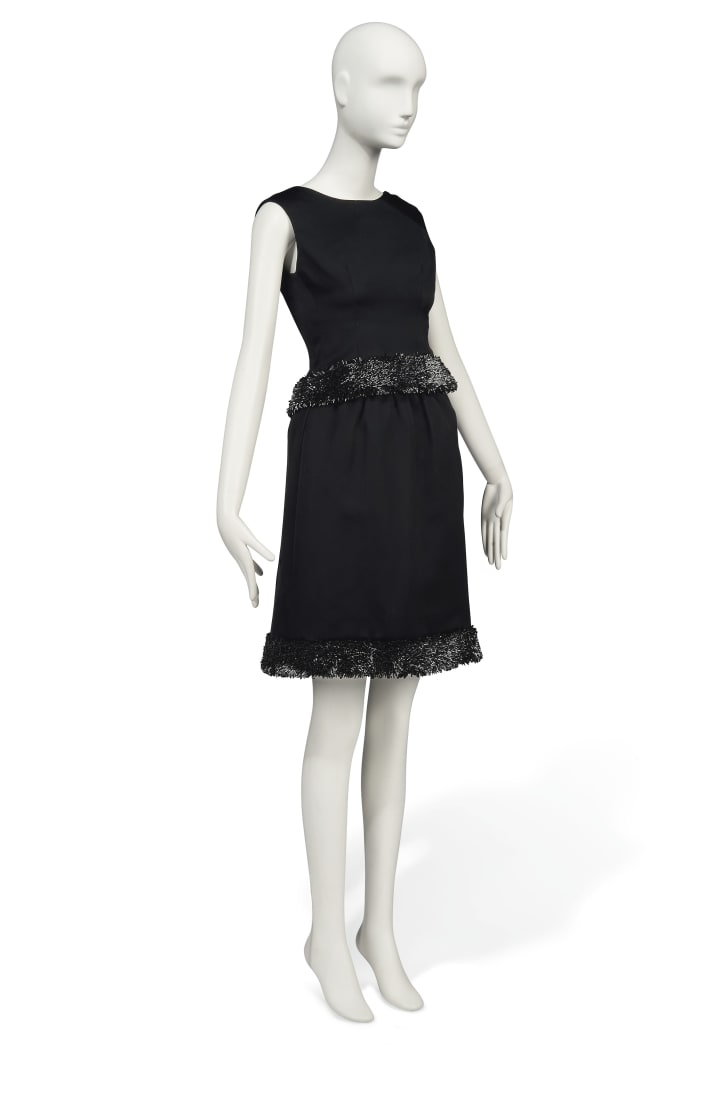 "Lot 144: A Givenchy couture gown worn in ""Charade"" (1963)"