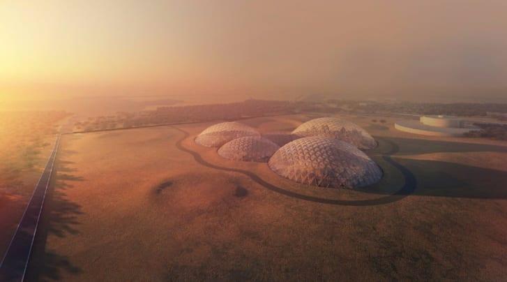 Bjarke Ingels Group's design for Mars Science City.