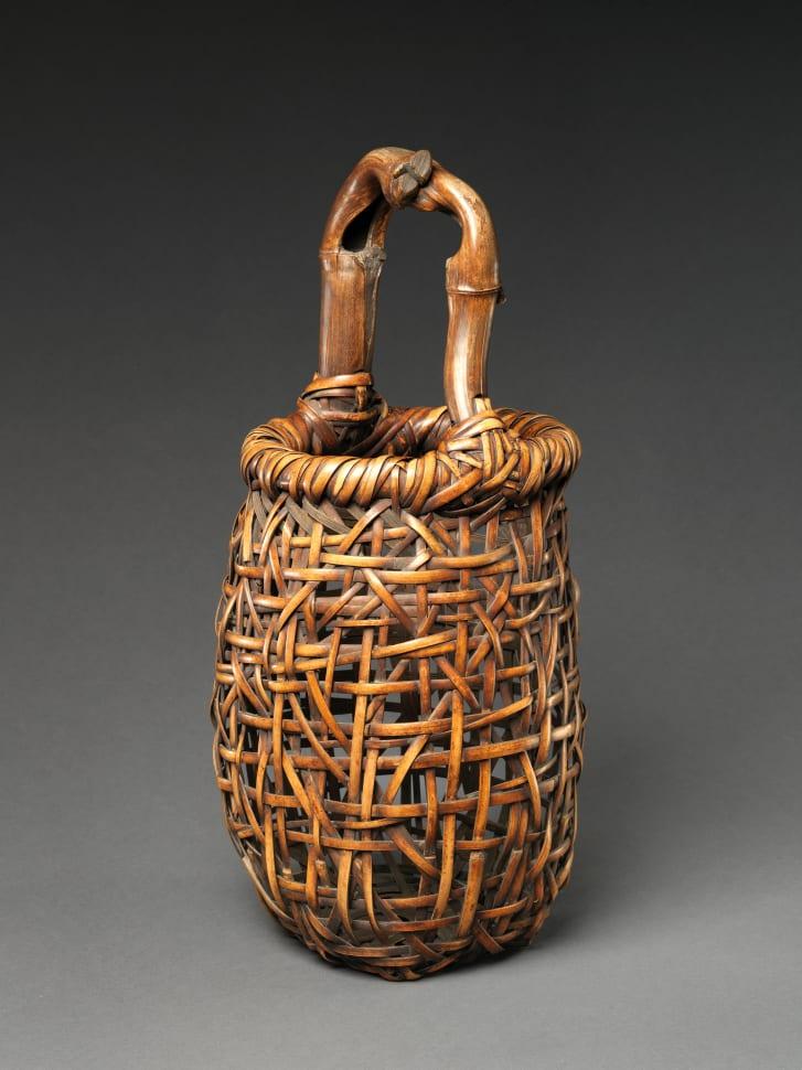 """Dancing Frog Flower Basket (Hanakago)"" (1918) by Hayakawa Shokosai III."