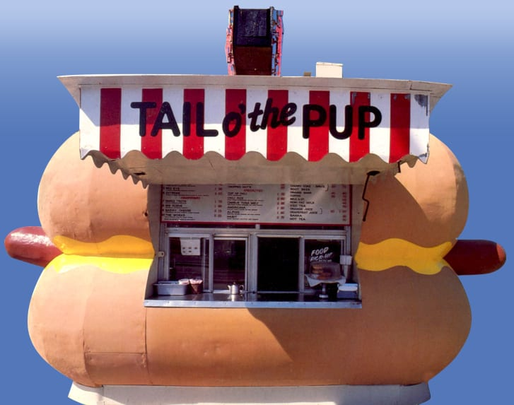 The Tail O' the Pup hot dog stand was built in 1946. It will enter the Valley Relics Museum, in California, by mid 2018.
