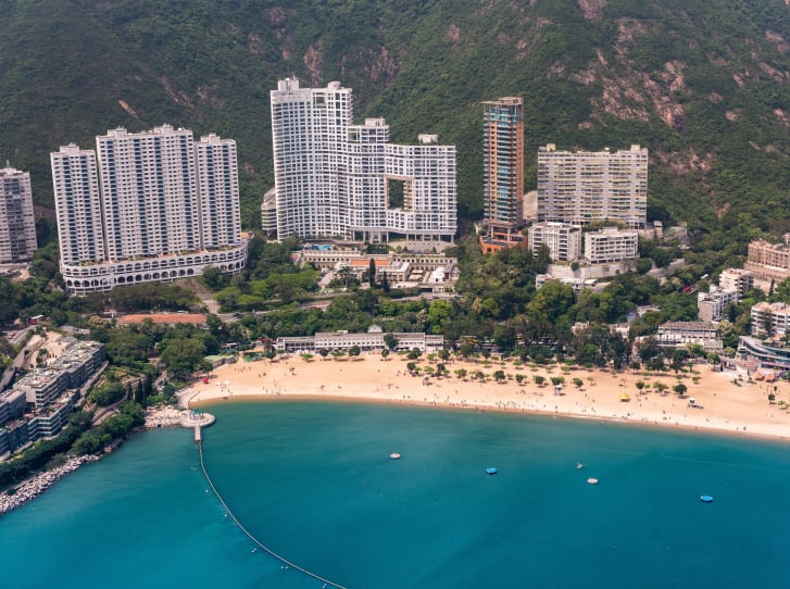 An aerial view of Repulse Bay.