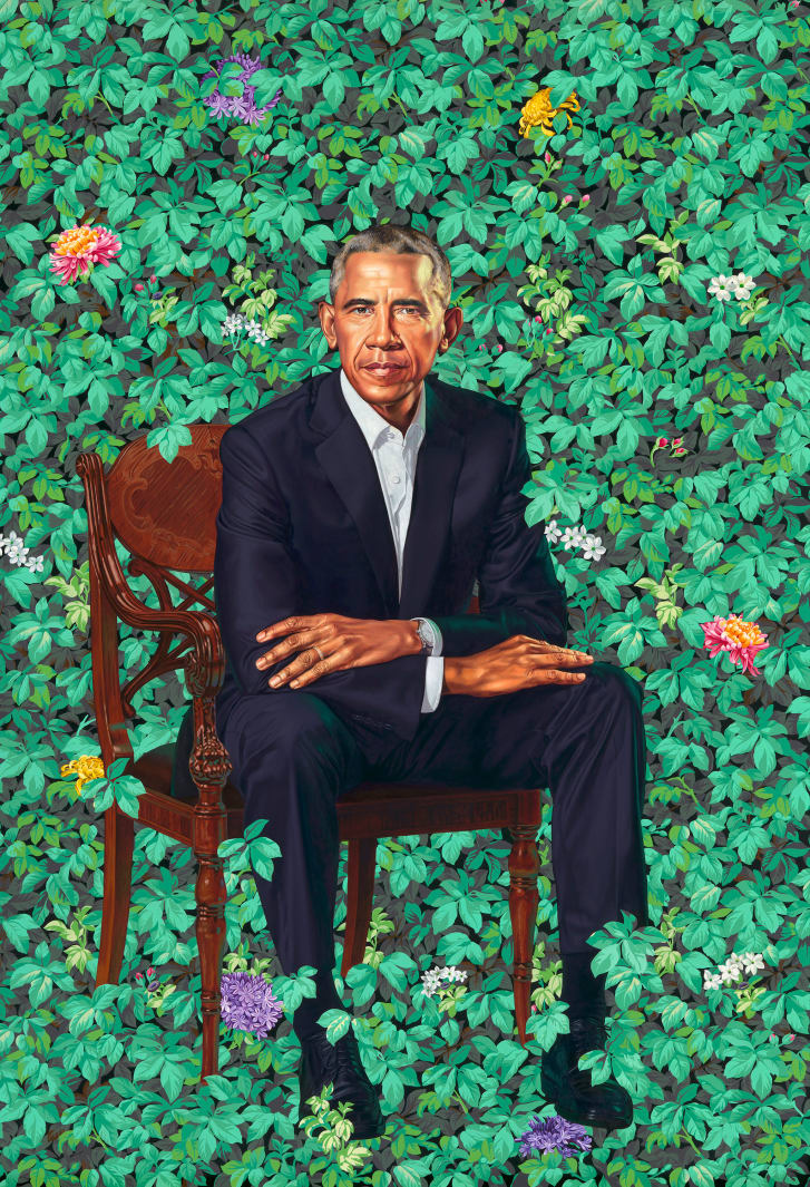 President Barack Obama's official portrait by Kehinde Wiley.