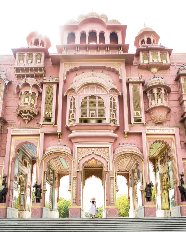 "Jaipur is commonlyl known as the ""Pink City."""