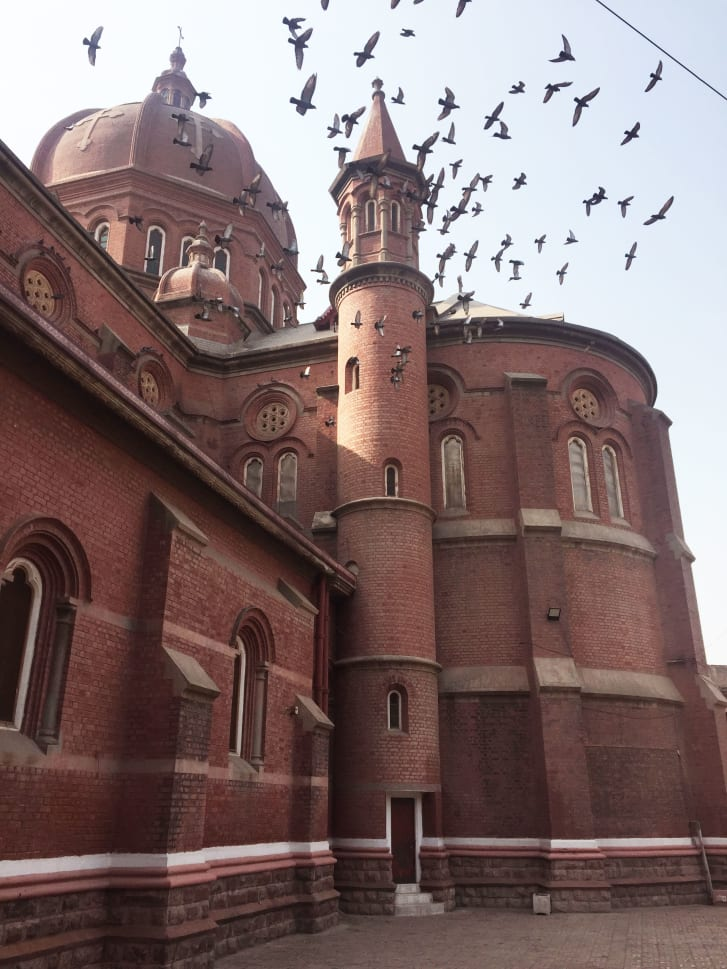 The Sacret Heart Cathedral in Lahore, designed by Belgian architect Edouard Dobbeleers.