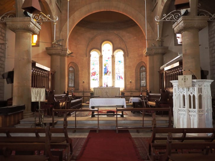 Interior of the Holy Trinity Cathedral in Karachi.