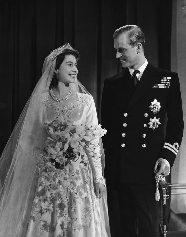 By the time Princess Elizabeth, later Queen Elizabeth II, married Phillip, Duke of Edinburgh in 1947, the white wedding dress was an international norm.