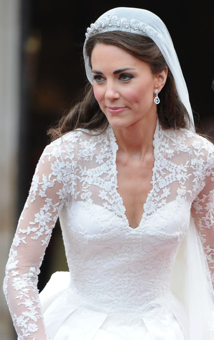 Kate, Duchess of Cambridge, wore white Alexander McQueen when she married Prince William in 2011.