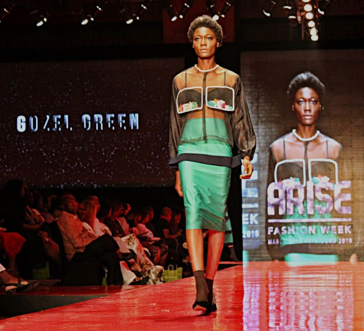 Gozel Green's presentation at Arise Fashion Week 2018, in Lagos, Nigeria.