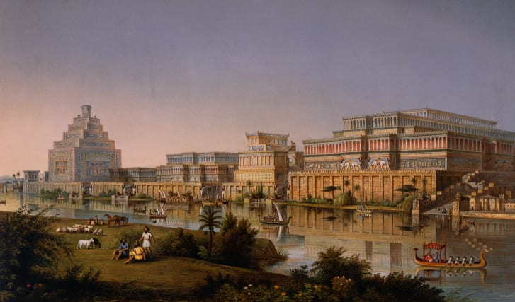 A reconstruction of King Ashurnasirpal's palaces in Nimrud.