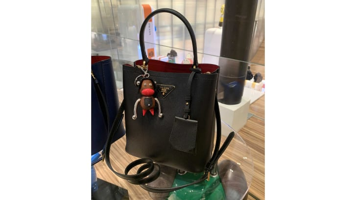 Among the products sold by Prada accused of depicting blackface imagery: a keychain selling for $550.