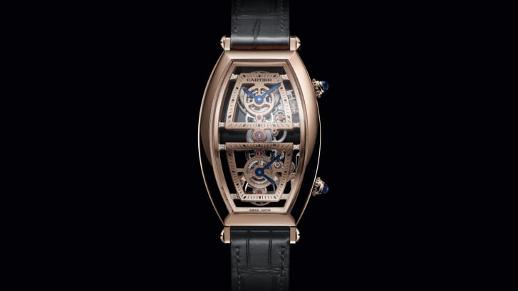 Cartier Tonneau XL Skeleton Dual Time