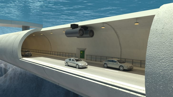 A rendering of the tunnel's interiors.
