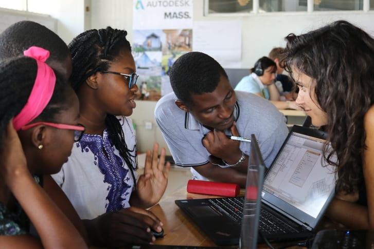 Fellows en el Centro de Diseño Africano.