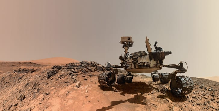 The rover Curiosity in a self-portrait taken on Aug. 5, 2015 on Mars.
