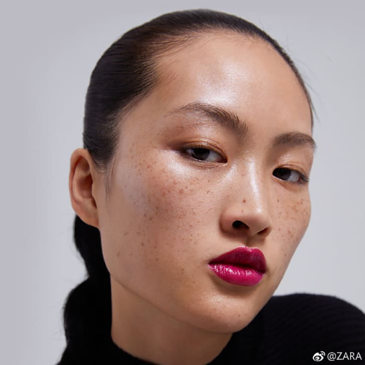 An image of Jing Wen from the Zara campaign.