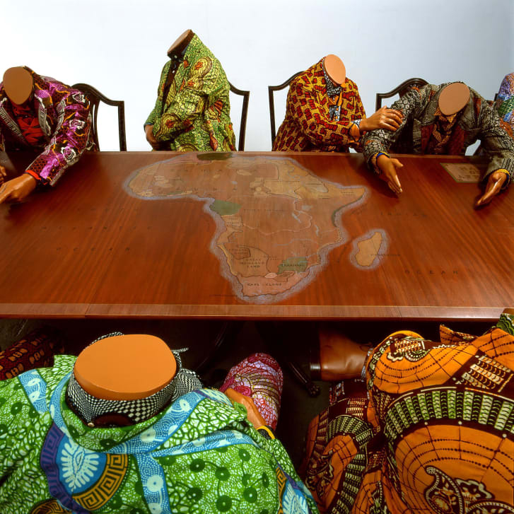 """Scramble for Africa"" by Yinka Shonibare, (2003)"