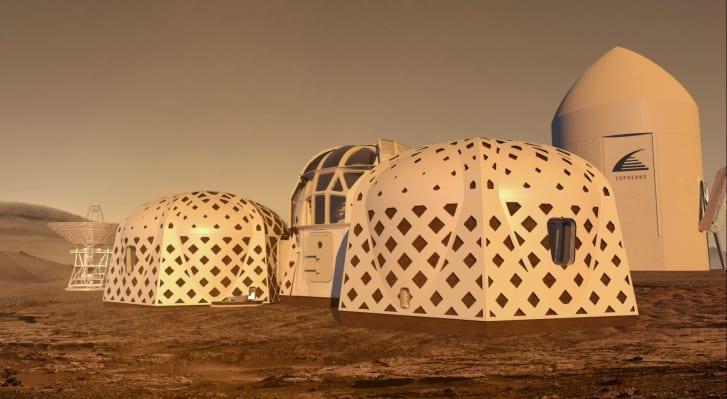 Zorpheus' designs would be built by an autonomous, roving 3D-printer.