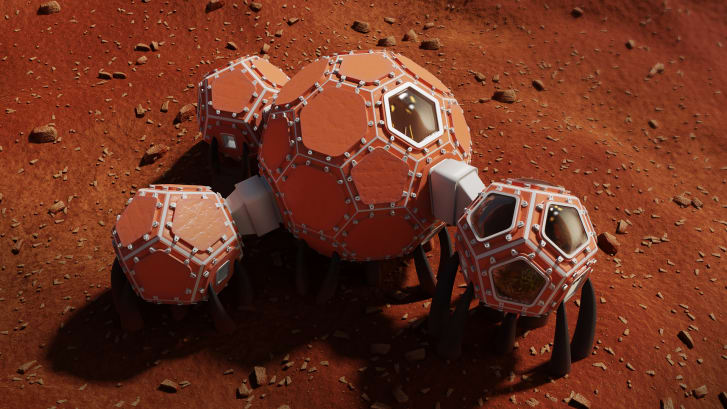 Mars Incubators, a collective of engineers and artists, presented a modular design.