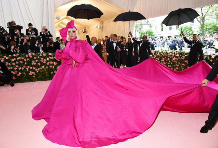 Lady Gaga attends the 2019 Met Gala, the theme of which was camp.