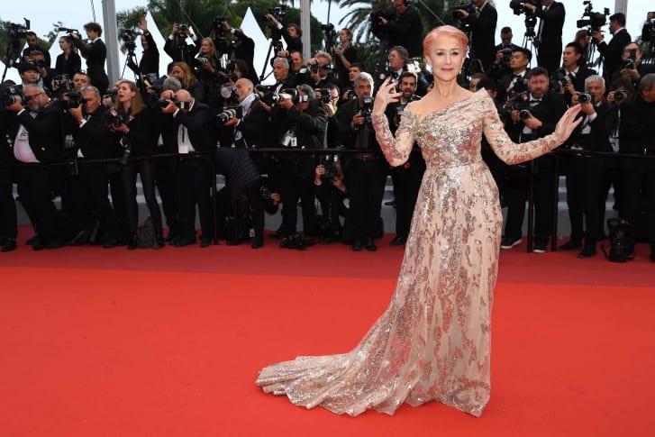 海伦·米伦(Helen Mirren)出席2019年戛纳电影节
