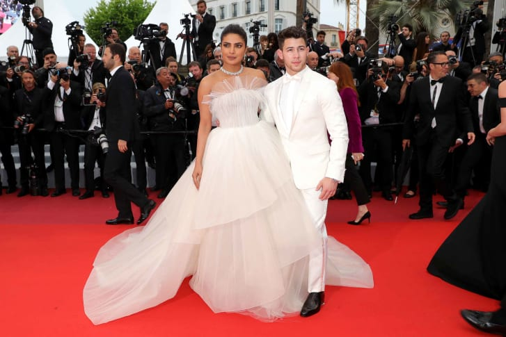 "Chopra and Nick Jonas attend the screening of ""Les Plus Belles Annees D'Une Vie"" at the Cannes Film Festival on May 18, 2019."