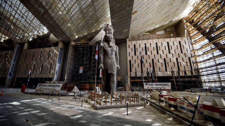 Grand Egyptian Museum work - April 2019