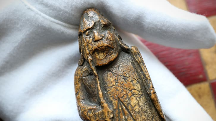 This is the first piece from the Lewis Chessmen set to be auctioned.
