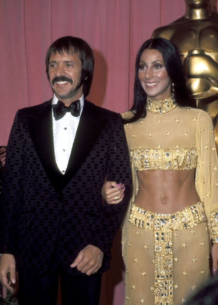 Sonny Bono And Cher at the 1973 Oscars.