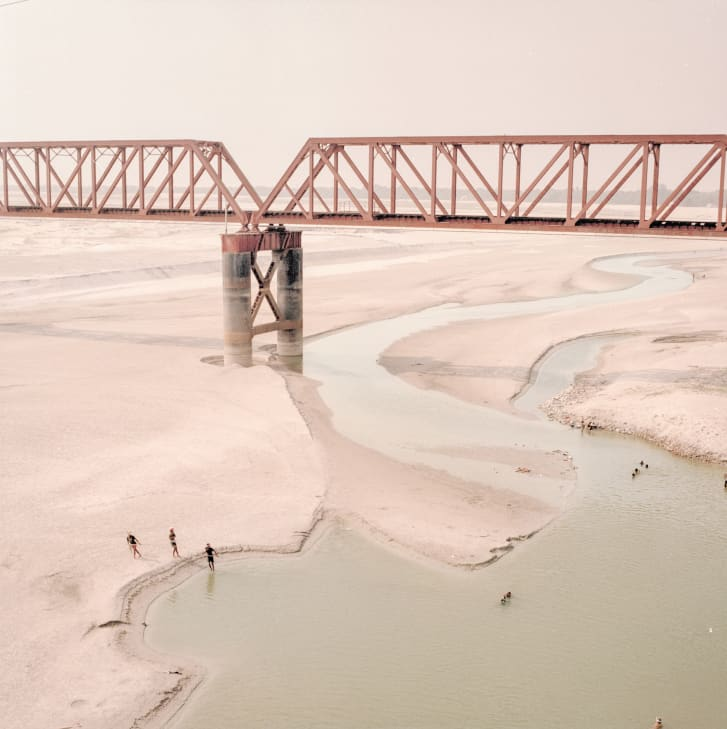 Although Di Sturco's photos features people living along the river, they are rarely the focus of the images.
