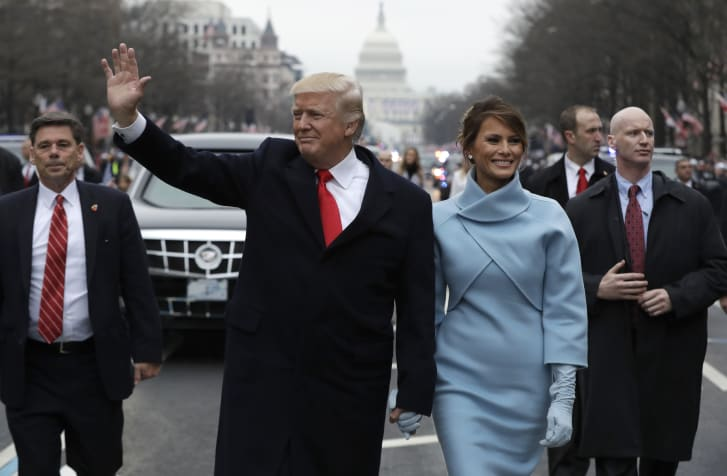 was Melania Trump paying tribute to a dress that wasn't really blue?