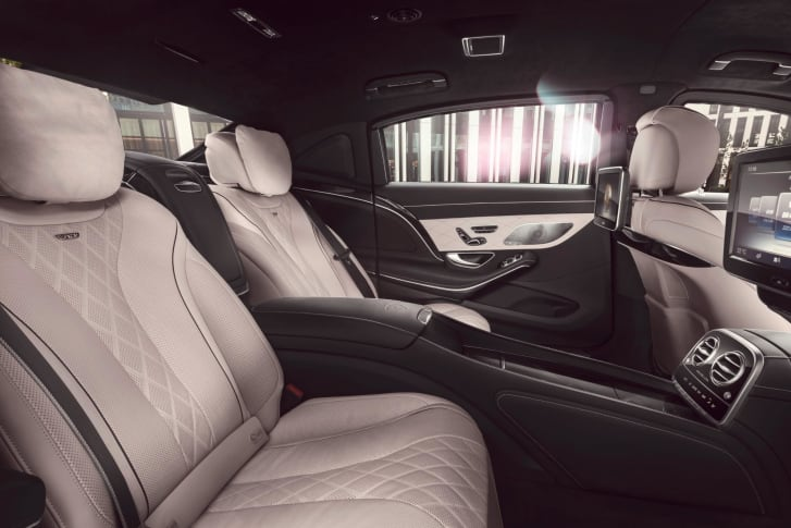 The interior of a Mercedes-Maybach S 600 Guard.
