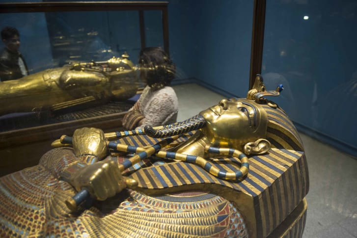 Tutankhamun's sarcophagus pictured at Cairo's                        Egyptian Museum in 2017.